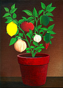 Potted Plant Paintings - Salsa Plant by Snake Jagger