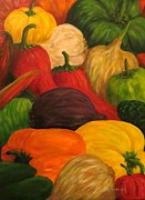Hot Peppers Painting Originals - Salsa by Venita Henderson