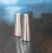 Jane See Art Framed Prints - Salt and Pepper Shakers Framed Print by Jane  See