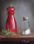 Life Paintings - Salt and Pepper by Viktoria K Majestic