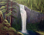 Salt Mixed Media - Salt Creek Falls by Kenny Henson