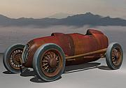 Wire Wheels Posters - Salt Flat Racer Poster by Stuart Swartz