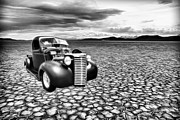 White Walls Framed Prints - Salt Flats Chevy Framed Print by Steve McKinzie