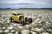 White Walls Framed Prints - Salt Flats Deuce Framed Print by Steve McKinzie