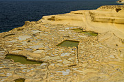 Production Photo Originals - Salt pans on Gozo Island Malta by Gabor Pozsgai