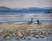 Maine Coast Pastels Posters - Saltair Poster by Grace Keown