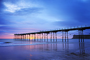 North Yorkshire Prints - Saltburn Pier at Dawn Print by Colin and Linda McKie