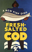 Posters On Drawings - Salted-cod 1940s Uk Fish Salted Cod by The Advertising Archives