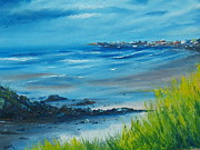 Palette Knife Framed Prints - Salthill Galway Framed Print by Conor Murphy
