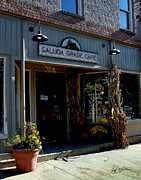Asheville Digital Art Framed Prints - Saluda Grade Cafe Saluda NC Framed Print by Jeff McJunkin