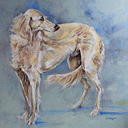 University Of Illinois Paintings - Saluki by Derrick Higgins