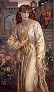 Dante Paintings - Salutation of Beatrice by Dante Gabriel Rossetti