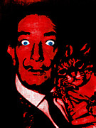 Cat Portraits Prints - Salvador Dali and Friend 20130212v2 Print by Wingsdomain Art and Photography