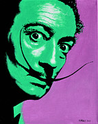 Salvador Dali  Paintings - Salvador Dali by Victor Minca