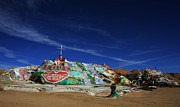Landmarks Acrylic Prints - Salvation Mountain Acrylic Print by Laurie Search