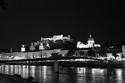 Salzburg Framed Prints - Salzburg at Night Framed Print by Mountain Dreams