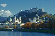 Salzburg Austria In Fall Print by Rudi Prott