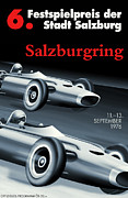 Salzburg Posters - Salzburg Grand Prix 1976 Poster by Nomad Art and Design