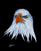 American Bald Eagle Painting Prints - Sam Print by Adele Moscaritolo
