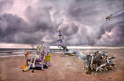 Storm Digital Art Prints - Sam and the Circus Print by Betsy A Cutler East Coast Barrier Islands