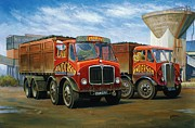 Quality Framed Prints - Sam Andersons AEC tippers. Framed Print by Mike  Jeffries