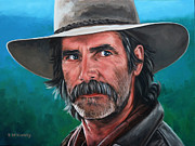 Cowboy Painting Originals - Sam by Rick McKinney
