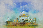 Pakistan Paintings - Samadhi Ranjeet Singh by Catf