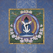Tibetan Buddhism Paintings - Samantabadhra In the Beginning by Nadean OBrien