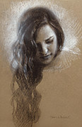 Samantha Sketch Print by Karen Whitworth