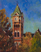 Samford Hall Framed Prints - Samford Hall Framed Print by John Albrecht