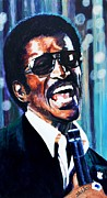 Singer Painting Originals - Sammy Davis Jr. by Shirl Theis