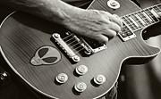 Carolyn Pettijohn - Sammy Hagar - Gibson Guitar - Black and White