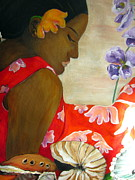Samoan Paintings - Samoan Beauty by Cheryl Ehlers