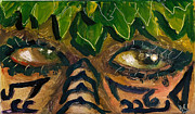 Samoan Paintings - Samoan Eyes by Donna Chaasadah