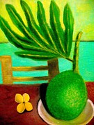 Samoan Paintings - Samoan Fruit by Frank B Shaner