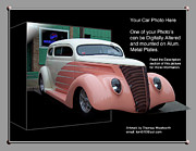 Pink Hot Rod Framed Prints - Sample Car Artwork Readme Framed Print by Thomas Woolworth
