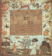 Reproduction Tapestries - Textiles Posters - Sampler Poster by Betcy Tucker