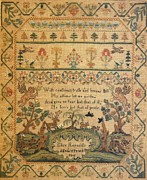 Reproduction Tapestries - Textiles Posters - Sampler Poster by Eliza Reynolds