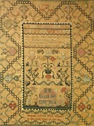Reproduction Tapestries - Textiles Posters - Sampler Poster by Hannah Cotter