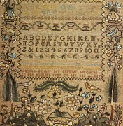 Original Tapestries - Textiles Prints - Sampler Print by Hannah Foster
