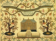 Connecticut Tapestries - Textiles Prints - Sampler Print by Marion Wilson