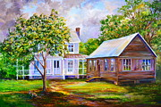 Old School House Painting Posters - Sams Place Poster by AnnaJo Vahle