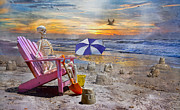 Physiology Metal Prints - Sams  Sandcastles Metal Print by Betsy A Cutler East Coast Barrier Islands