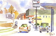 Service Station Paintings - Sams Service by Kip DeVore