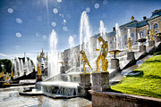 Unusual Fountain Prints - Samson fountain . Petrodvorets . St . Petersburg . Russia Print by Vladimir Sidoropolev