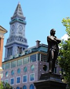 Boston Ma Prints - Samuel Adams Print by Pamela Walters