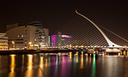 Eventide Posters - Samuel Beckett Bridge in Dublin City Poster by Semmick Photo