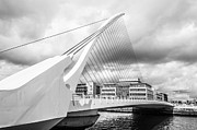 Eventide Posters - Samuel Beckett Bridge Poster by Semmick Photo