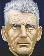Writer Painting Originals - Samuel Beckett by Martin Keaney