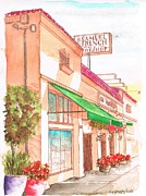 French Shops Paintings - Samuel French Bookshop on Sunset Blvd - Hollywood - California by Carlos G Groppa